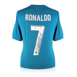 Cristiano Ronaldo Signed 2017-18 Real Madrid Third Football Shirt