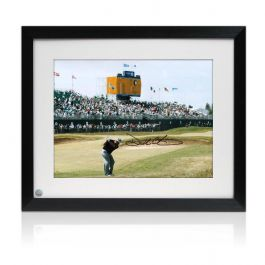 Framed Darren Clarke Signed Photograph: The Winning Shot