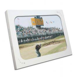 Darren Clarke Signed Photograph: The Winning Shot. In Gift Box