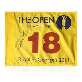 Darren Clarke Signed 2011 Open Pin Flag