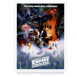 Darth Vader Signed Empire Strikes Back Poster