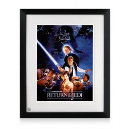Framed Darth Vader Signed Return Of The Jedi Poster
