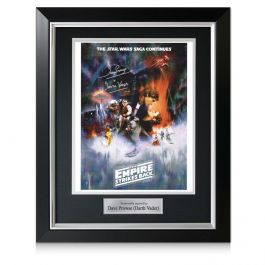 Darth Vader Signed Empire Strikes Back Poster. Deluxe Framed