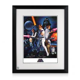 Darth Vader Signed Star Wars Poster. Framed