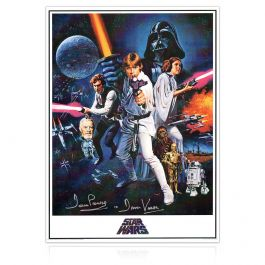 Darth Vader Signed Star Wars Poster