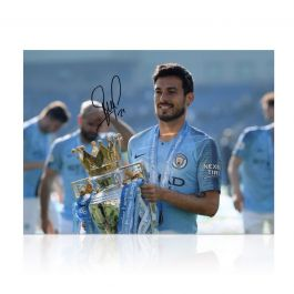 David Silva Signed Manchester City Photo: Premier League Champions