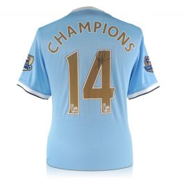 David Silva Signed Limited Edition Manchester City 2013-14 Shirt: Champions 14
