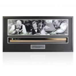 Framed Steve Davis Signed Snooker Cue