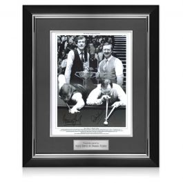 Steve Davis And Dennis Taylor Signed Snooker Photo: 1985 World Championship. Deluxe Frame