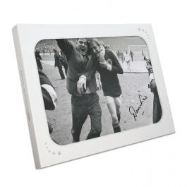 Denis Law Signed Scotland Photograph: 1967 Win At Wembley In Gift Box