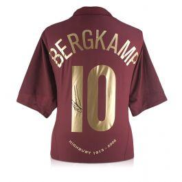 Dennis Bergkamp Signed Arsenal 2005-06 Commemorative Highbury Shirt