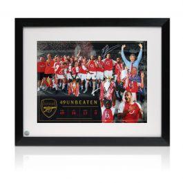 Dennis Bergkamp Signed Arsenal Photo: Invincibles. Framed