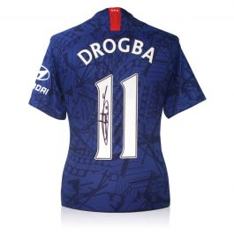 Didier Drogba Signed Chelsea 2019-20 Shirt
