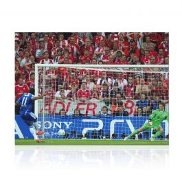 Didier Drogba Signed Chelsea Photo: Champions League Penalty