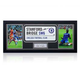 Didier Drogba Signed Chelsea Street Sign. Framed