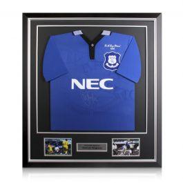 Duncan Ferguson Signed Everton 1995 FA Cup Football Shirt Framed