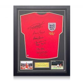 England 1966 World Cup Winning Team Signed Shirt. Standard Frame