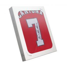Eric Cantona Signed Manchester United 2019-20 Shirt. Gift Box