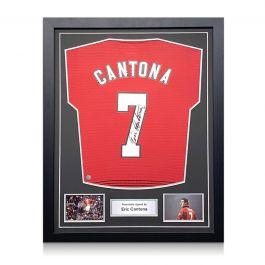 Eric Cantona Signed Manchester United Shirt. Standard Frame