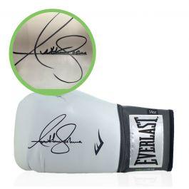 Anthony Joshua Signed White Boxing Glove - Damaged Stock A