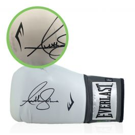 Anthony Joshua Signed White Boxing Glove - Damaged Stock B
