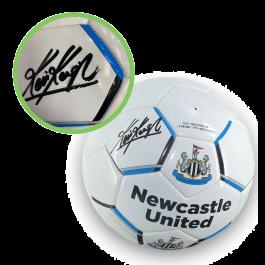 Kevin Keegan Signed Newcastle United Football. Damaged Stock
