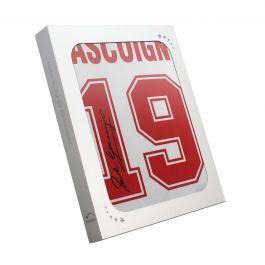 Paul Gascoigne Signed 1990 England Shirt. In Gift Box