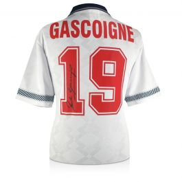 Paul Gascoigne Signed England 1990 Shirt