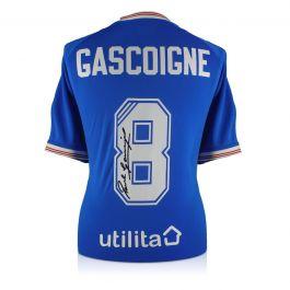 Paul Gascoigne Signed Rangers Shirt