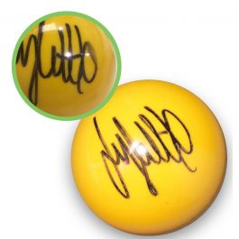 Jimmy White Signed Yellow Snooker Ball. Damaged A
