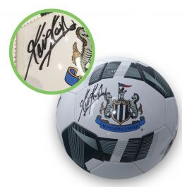 Kevin Keegan Signed Newcastle Football. Damaged A