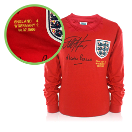 Geoff Hurst And Martin Peters Signed England 1966 Football Shirt - Damaged Stock D