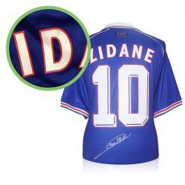 Zinedine Zidane Signed France 1998 Football Shirt - Damaged Stock