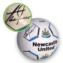 Alan Shearer Signed Newcastle United Football - Damaged stock B