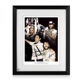 Ricky Villa And Ossie Ardiles Double Signed Spurs Photo Framed
