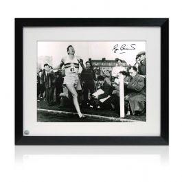 Roger Bannister Signed Photo: First Under 4 Minute Mile. Framed