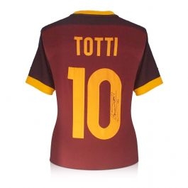Francesco Totti Signed AS Roma 2015-16 Authentic Home Shirt