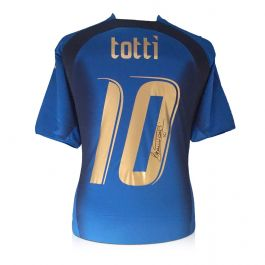Francesco Totti Signed Italy 2006 World Cup Winners Football Shirt