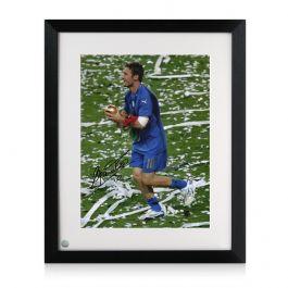 Francesco Totti Signed Italy Photo: World Cup Winner. Framed