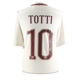 Francesco Totti Signed AS Roma 2016-17 Away Shirt: The Final Season