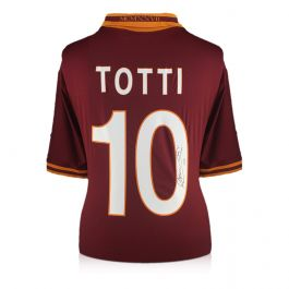 Francesco Totti Signed AS Roma Football Shirt 2013-14