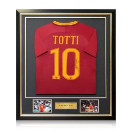 Francesco Totti Signed AS Roma Football Shirt 2016-17: The Final Season Framed