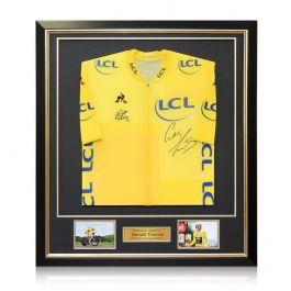 Geraint Thomas Signed Tour De France 2018 Pro Yellow Jersey In Deluxe Black Frame With Gold Inlay
