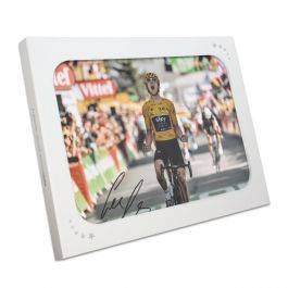 Geraint Thomas Signed Tour De France Photo: Alpe D'Huez Finishing Line. In Gift Box