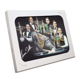 Ronnie O'Sullivan Signed Snooker Photograph: Five Times World Champion Montage. In Gift Box
