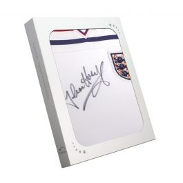Glenn Hoddle Signed England 1982 Shirt. In Gift Box