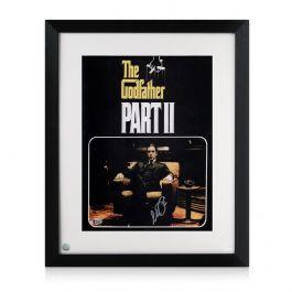 Framed Al Pacino Signed Godfather 2 Film Poster