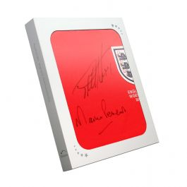 Sir Geoff Hurst And Martin Peters Signed England Football Shirt In Gift Box