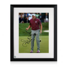 Framed Ian Poulter Signed Photo: Birdie On The 16th