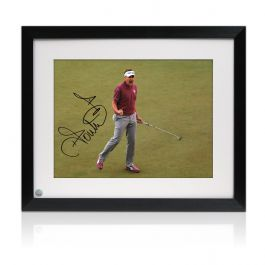 Framed Ian Poulter Signed Photo: Birdie On The 17th